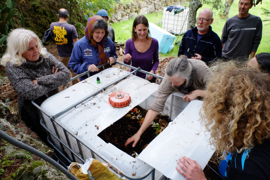 Vermicomposting toilet workshop