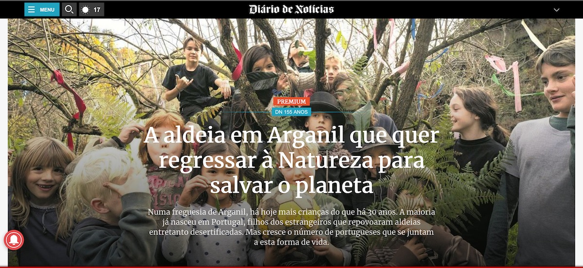 Featured article on Benfeita community in Diário de Notícias, December 2019