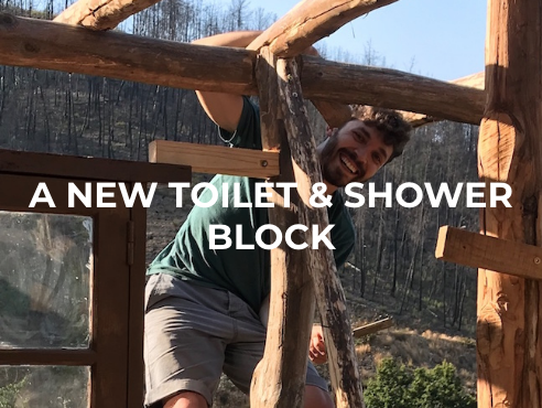 A new toilet and shower block